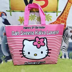 Tas Ultah Anak Custom Foto Hello Kitty